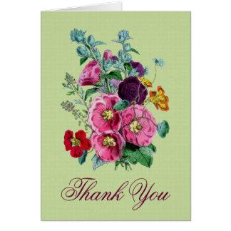 Gracias cardar con las floraciones V01 del Tarjeta Pequeña