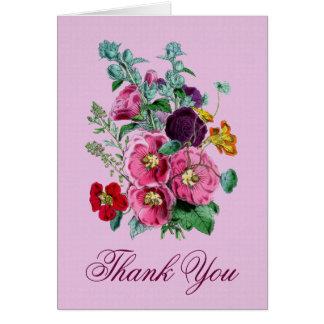 Gracias cardar con las floraciones V02 del Tarjeta Pequeña
