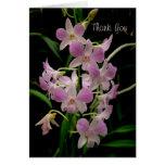 Gracias cardar con las orquídeas rosadas tarjeta
