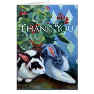 Gracias cardar con los conejos felicitaciones