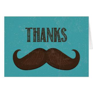 Gracias cardar - diseño del bigote tarjeta de felicitación