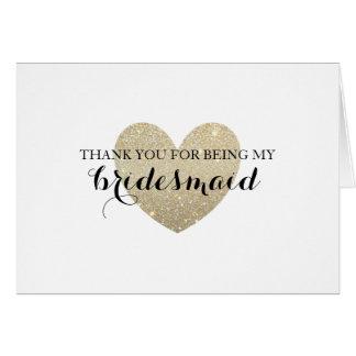 Gracias cardar - el corazón nupcial fabuloso tarjeta pequeña