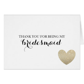 Gracias cardar - el corazón nupcial tarjeta pequeña