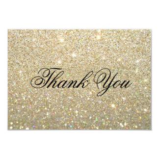 """Gracias cardar - el oro Glit fabuloso Invitación 3.5"""" X 5"""""""