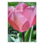 Gracias cardar el tulipán rosado tarjeta