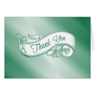 """""""Gracias"""" cardar en verde Felicitacion"""