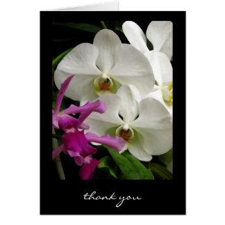 Gracias cardar fotografía floral del arte del ~ de felicitacion