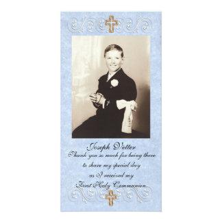 Gracias cardar la primera comunión tarjetas fotograficas personalizadas