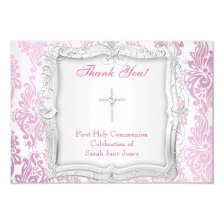 Gracias cardar la primera cruz de la comunión invitación 8,9 x 12,7 cm
