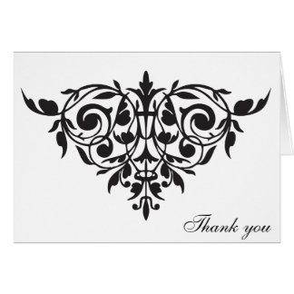 Gracias cardar la silueta chandelier fleur di lis tarjeta de felicitación