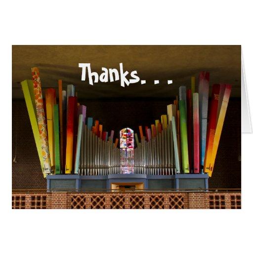Gracias cardar - los tubos coloridos tarjeta de felicitación