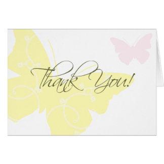 Gracias cardar - mariposas tarjeta pequeña