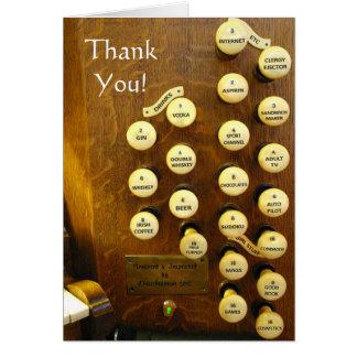 Gracias cardar - mi órgano ideal tarjeta de felicitación