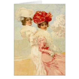 GRACIAS CARDAR modas de los amigos del Victorian Tarjeta Pequeña
