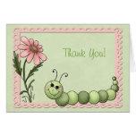 Gracias, Caterpillar, margarita rosada Tarjeta
