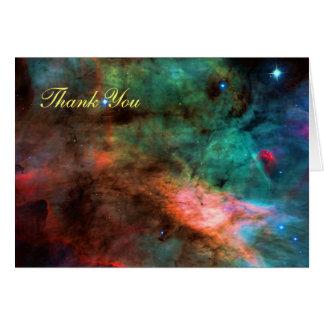 Gracias - centro de la nebulosa del cisne tarjeta de felicitación