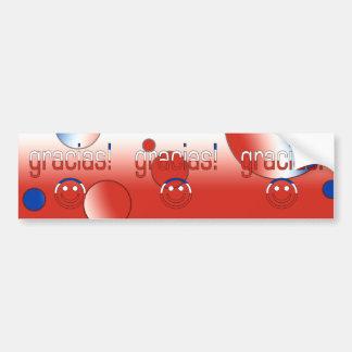 Gracias! Chile Flag Colors Pop Art Bumper Sticker