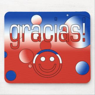 Gracias! Chile Flag Colors Pop Art Mouse Pad