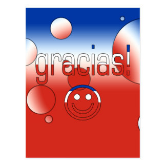 Gracias! Chile Flag Colors Pop Art Postcard