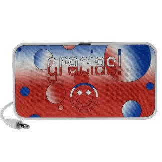 Gracias! Chile Flag Colors Pop Art Portable Speaker