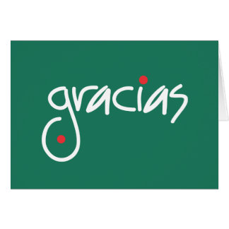 Gracias Christmas Thank you in any language Card