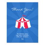 """Gracias circo/tarjeta plana del carnaval invitación 4.25"""" x 5.5"""""""