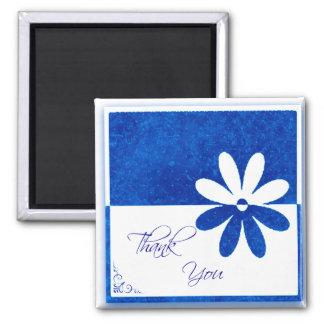 Gracias citar el imán de la flor azul y blanca