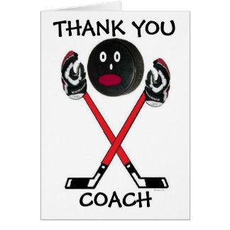 Gracias coche de hockey felicitacion