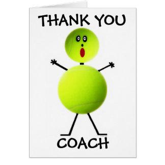 Gracias coche de tenis tarjeta de felicitación