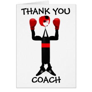 Gracias coche del boxeo tarjeta de felicitación