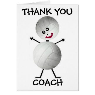 Gracias coche del voleibol tarjeta de felicitación