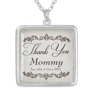 Gracias collar personalizado mamá del mensaje