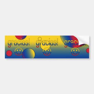 Gracias! Colombia Flag Colors Pop Art Bumper Sticker
