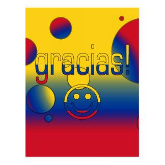 Gracias! Colombia Flag Colors Pop Art Postcard
