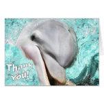 Gracias con la tarjeta sonriente del delfín