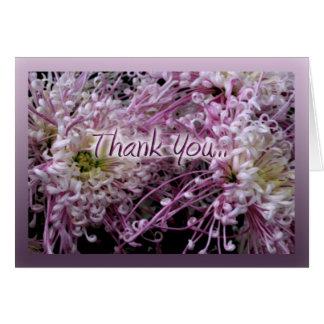 Gracias con las flores tarjeta