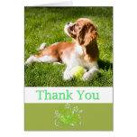 Gracias con rey arrogante Charles Card del perrito Felicitaciones