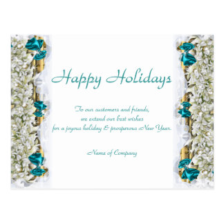 Gracias corporativas de Navidad de los refranes Tarjeta Postal