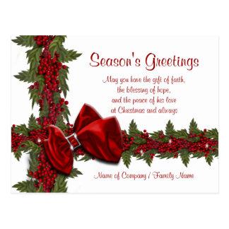 Gracias corporativas de Navidad de los refranes Postales