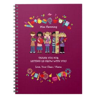 Gracias, cuadernos del regalo del profesor