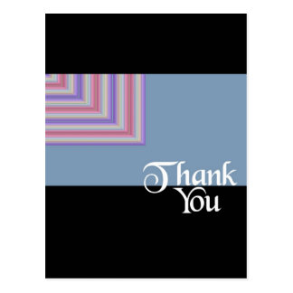 Gracias cuadrado azul tarjetas postales