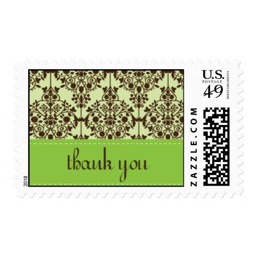 gracias damasco timbre postal