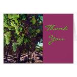 Gracias de conexión en cascada de las uvas tarjeta de felicitación