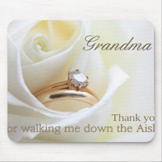 Gracias   de la abuela por caminar yo abajo del alfombrillas de ratones