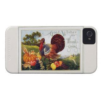 Gracias de Turquía del vintage Case-Mate iPhone 4 Carcasas