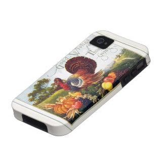 Gracias de Turquía del vintage iPhone 4 Fundas