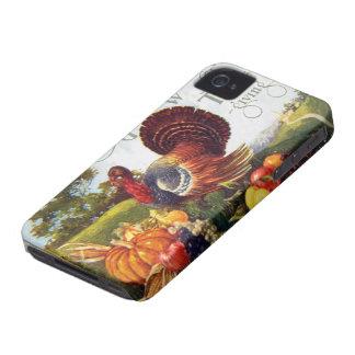 Gracias de Turquía del vintage iPhone 4 Case-Mate Coberturas