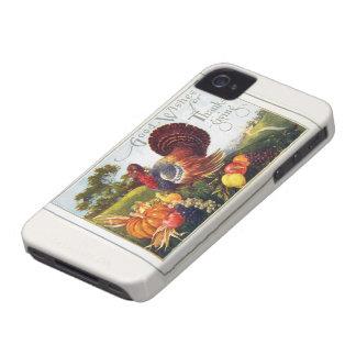 Gracias de Turquía del vintage iPhone 4 Case-Mate Carcasas