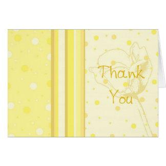 Gracias del amarillo por recibir la tarjeta de la