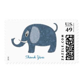 Gracias del azul del elefante del bebé envio